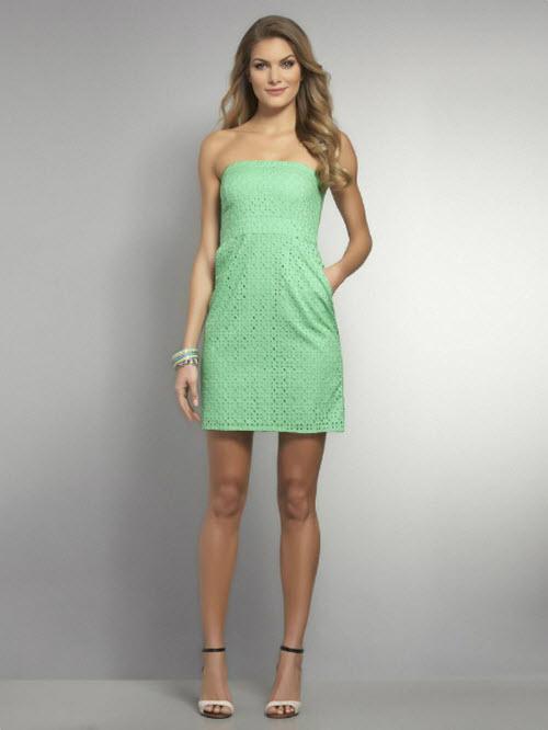 Strapless Eyelet Dress