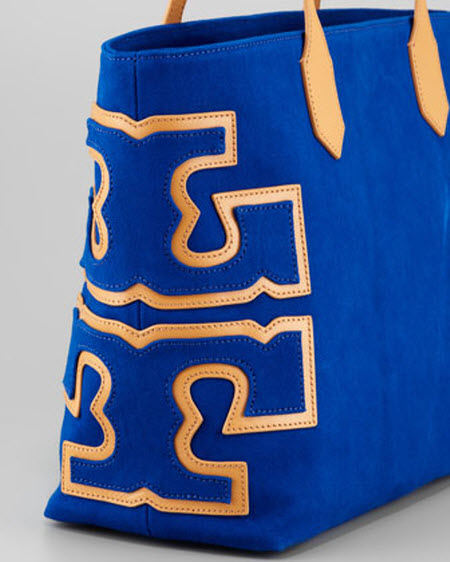 Tory Burch Canvas Stacked-Logo Tote Bag 2