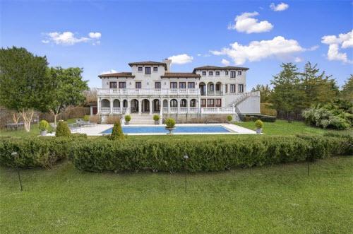 $19.9 Million Gated Mediterranean Mansion in Bridgehampton New York