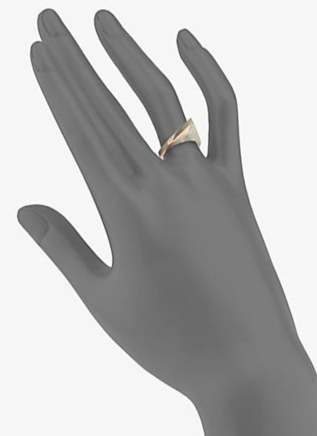 A.L.C. 14K Yellow and Rose Gold Triangle Ring 2