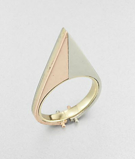 A.L.C. 14K Yellow and Rose Gold Triangle Ring