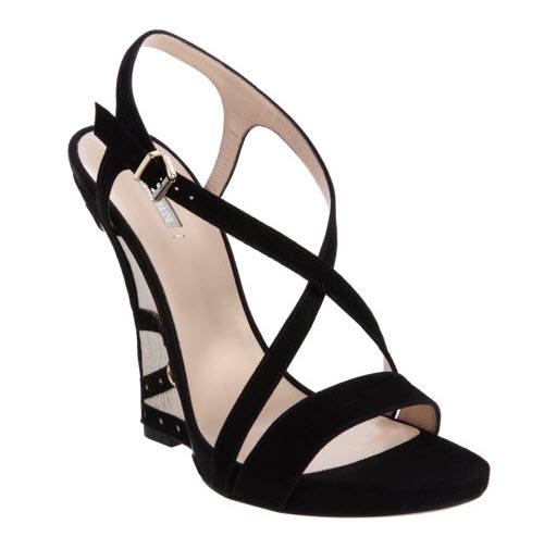 Armani Grommet Wedge Sandal