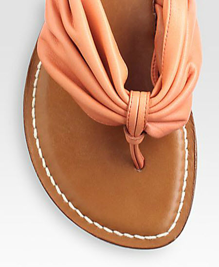 Bernardo 1946 draped leather sandal 2