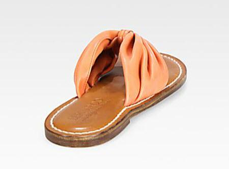 Bernardo 1946 draped leather sandal 3
