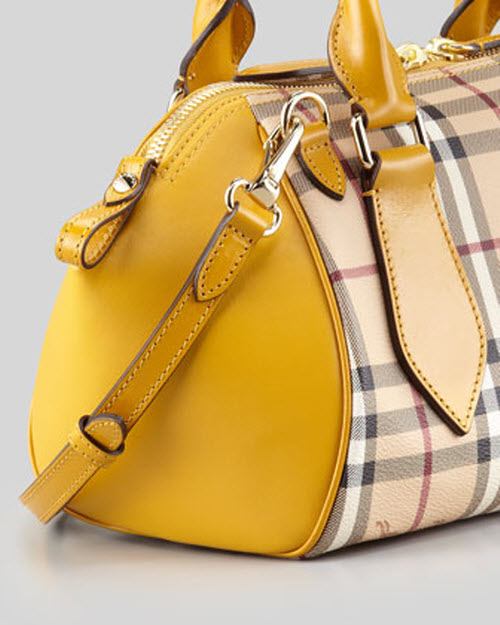 Burberry Small Check Leather Crossbody Satchel Bag 3