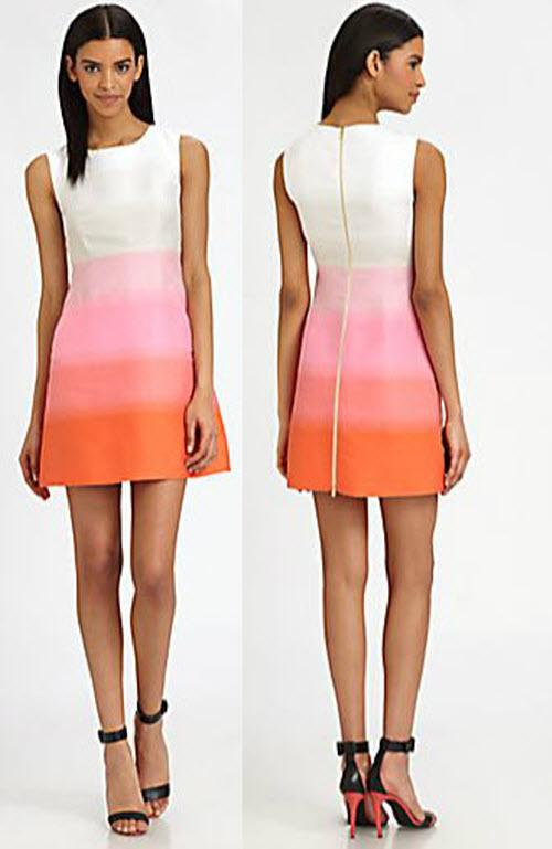 Diane von Furstenberg Capreena Ombré-Stripe Dress 3