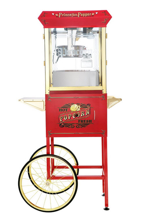 Great Northern Popcorn Red Princeton Antique Style Popcorn Popper Machine Complete with Cart 3
