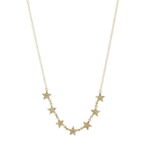 Jennifer Meyer Diamond Lucky Seven Mini Star Necklace