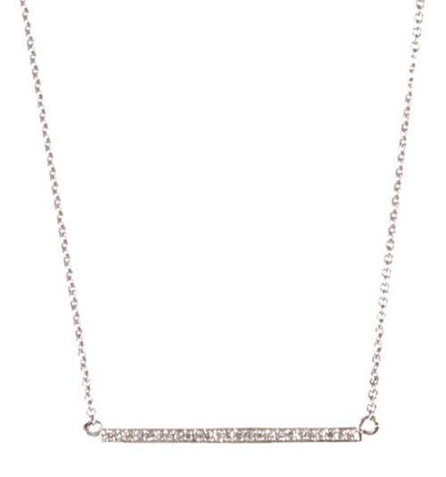 Jennifer Meyer White Gold & Diamond Stick Necklace