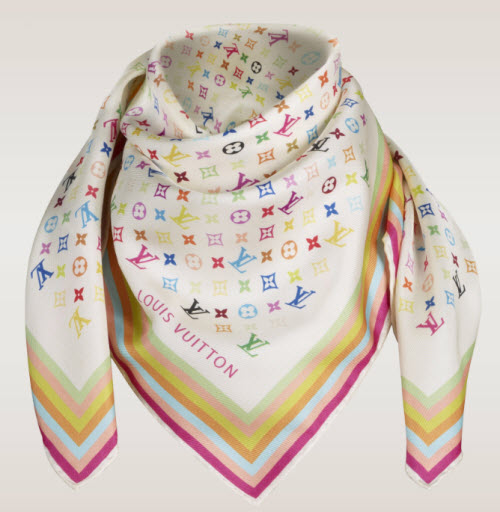 Louis Vuitton Monogram Multicolor Silk Square Scarf