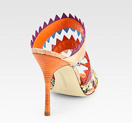 Manolo Blahnik Piñata Snakeskin Sandals 2