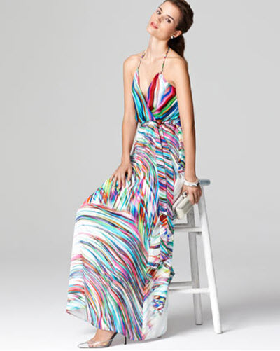 Milly Printed Halter Maxi Dress 2