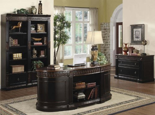 Oval Shaped Executive Desk 2