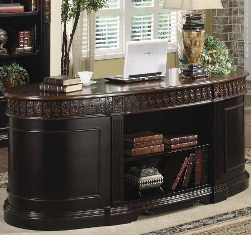 Oval Shaped Executive Desk