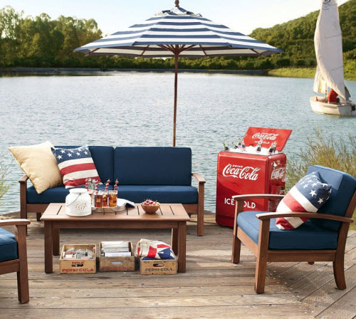 Pottery Barn American Flag Outdoor Pillow 2