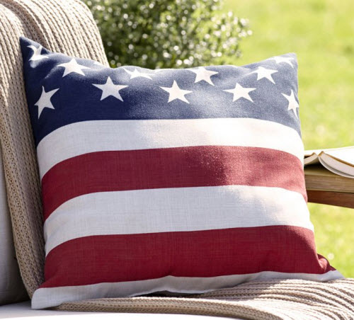 Pottery Barn American Flag Outdoor Pillow
