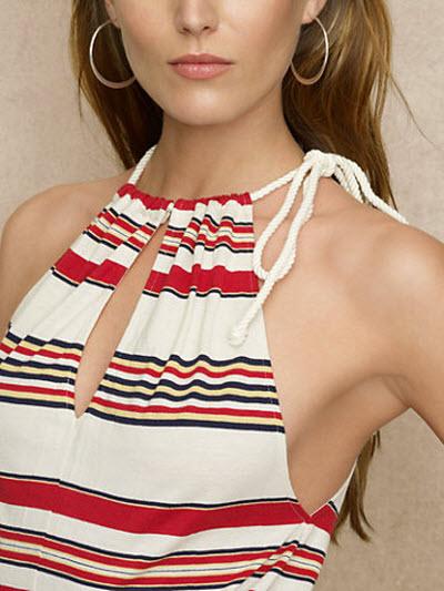 Ralph Lauren Blue Label Striped Sleeveless Maxidress 3