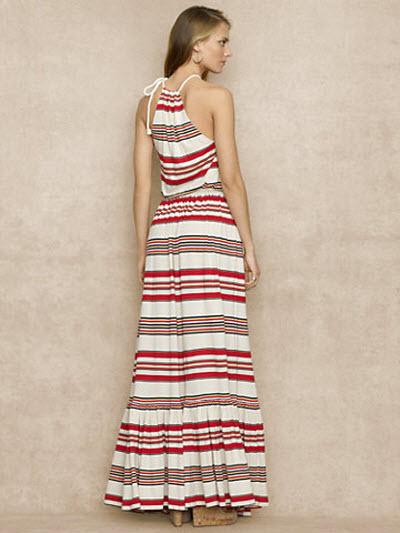Ralph Lauren Blue Label Striped Sleeveless Maxidress 4