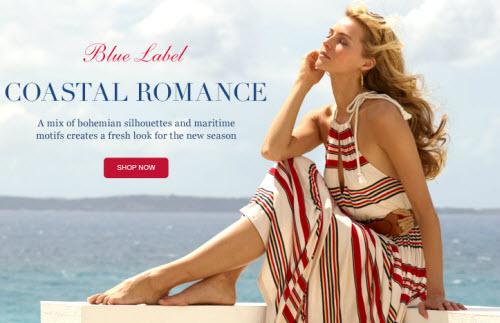 Ralph Lauren Blue Label Striped Sleeveless Maxidress