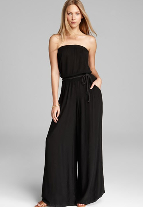Three Dots Jumpsuit with Braided Ties