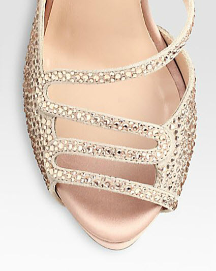 Valentino Crystal-Coated Suede Slingback Pumps 2