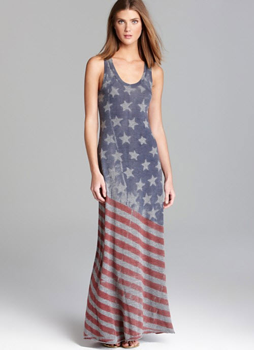 ALTERNATIVE Flag Racer Maxi Dress