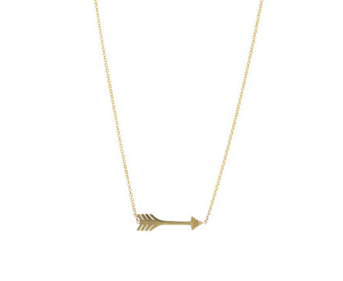Jennifer Meyer Gold Mini Arrow Necklace