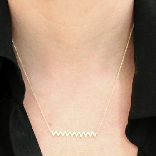 Jennifer Meyer Zig zag Necklace 2