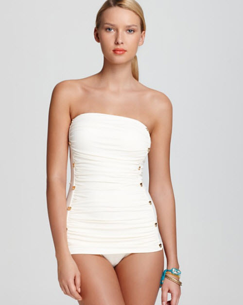 Juicy Couture Miss Divine Hearts Button One Piece Swimsuit