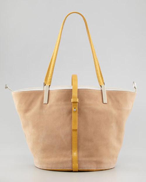 The Row Garden Colorblock Tote Bag