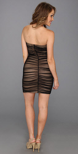 Type Z Keila Fitted Lace Strapless Dress 4