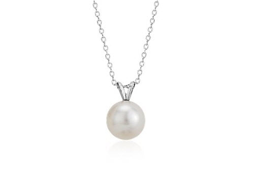 Blue Nile Freshwater Cultured Pearl Pendant