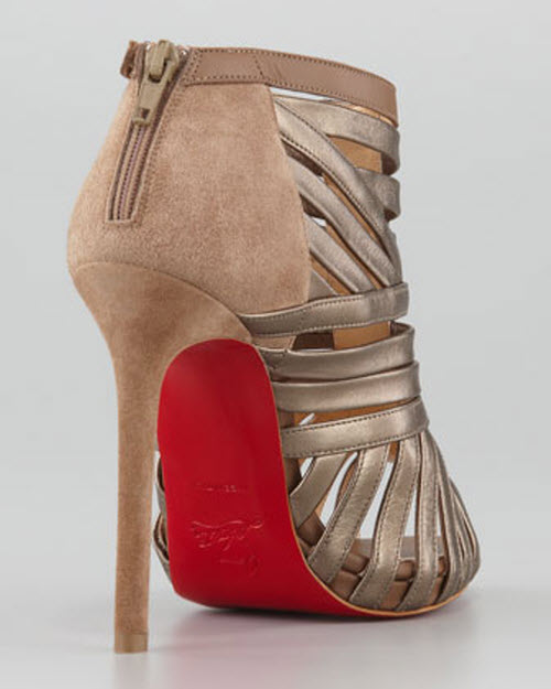 Christian Louboutin Karina Caged Red-Sole Ankle Bootie 3