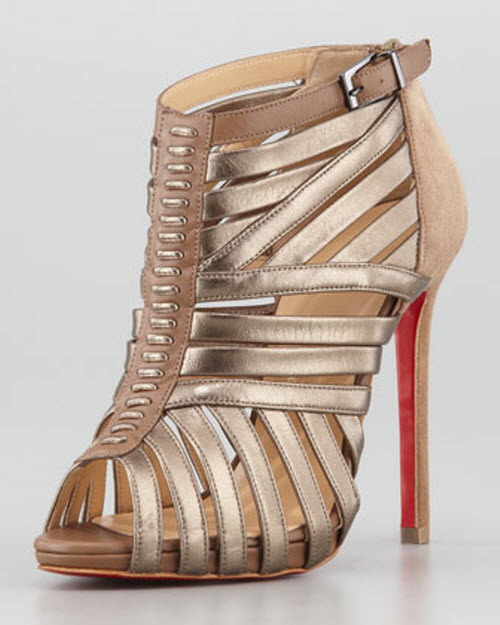 sale retailer 9c92c d164d Shoe of the Day: Christian Louboutin Karina Caged Red-Sole ...