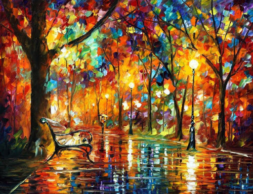 Farewell To Anger - Pallete Knife Original Recreation Oil Painting On Canvas By Leonid Afremov