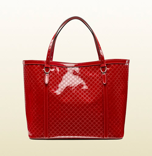Gucci Nice Microguccissima Glossy Patent Leather Tote 5