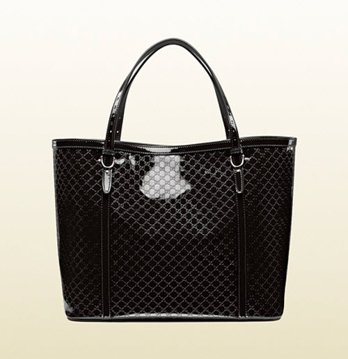 Gucci Nice Microguccissima Glossy Patent Leather Tote