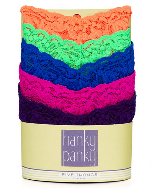 Hanky Panky low rise thong 5 pack