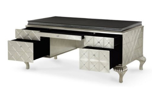 Hollywood Swank Cavier Desk From Aico Amini and Jane Seymour's Design Collection 4