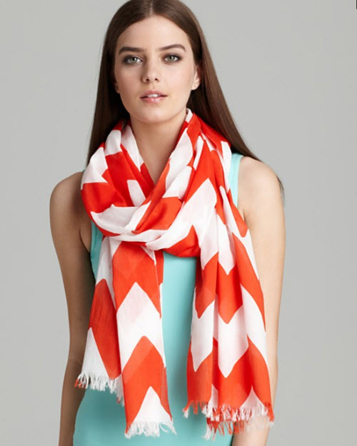 Kate Spade New York Chevron Stripe Scarf 2