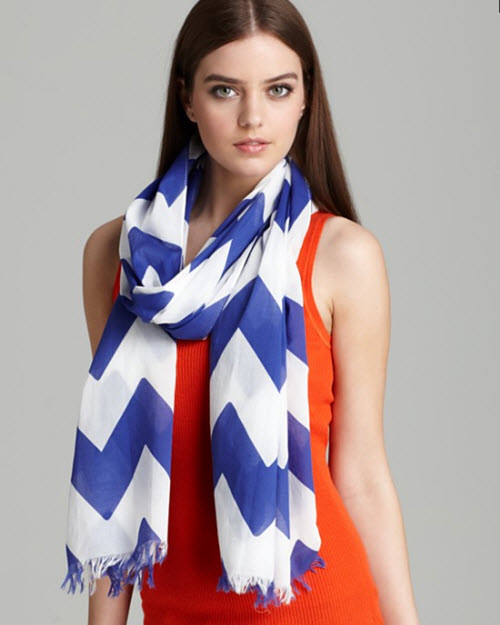 Kate Spade New York Chevron Stripe Scarf