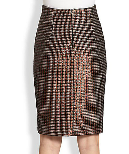 Marc Jacobs Sequined Houndstooth Pencil Skirt 2