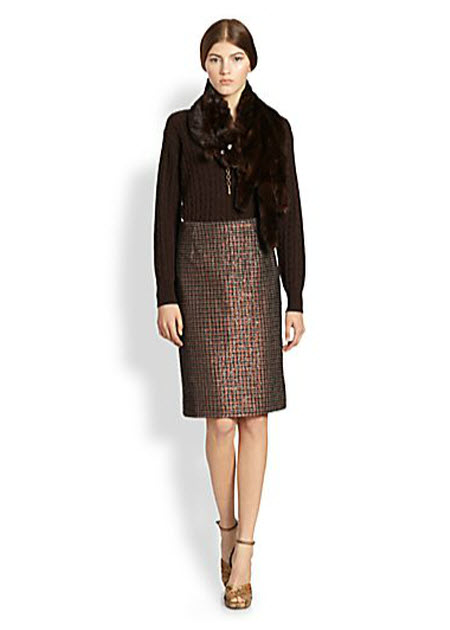 Marc Jacobs Sequined Houndstooth Pencil Skirt 3
