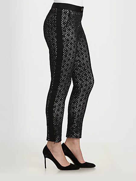 Marc by Marc Jacobs Collage Cropped Lace-Overlay Skinny Pants 2