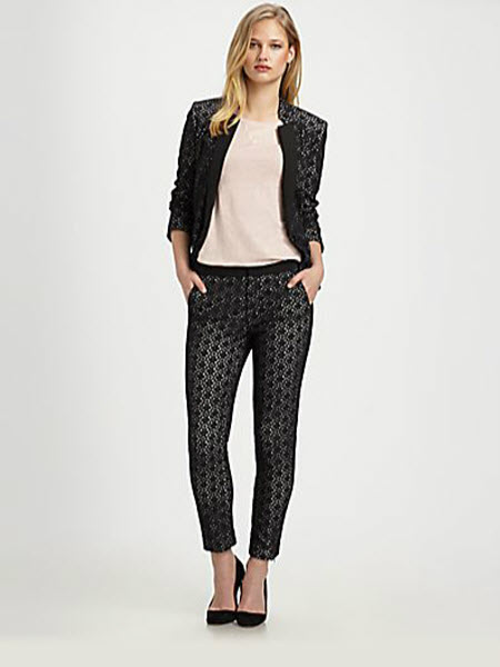 Marc by Marc Jacobs Collage Cropped Lace-Overlay Skinny Pants 3