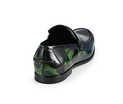 Men's Jimmy Choo Printed Patent Leather Loafers 2