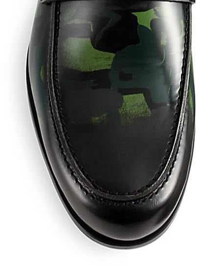 Men's Jimmy Choo Printed Patent Leather Loafers 3