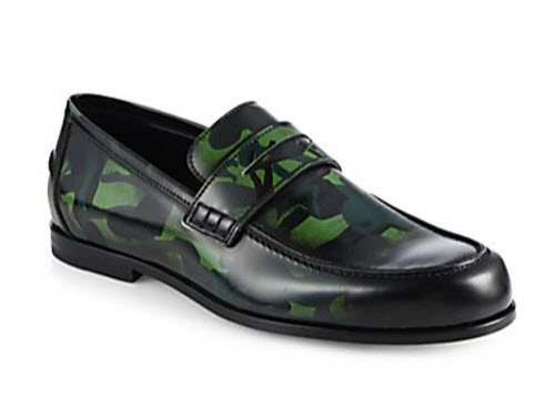 Men's Jimmy Choo Printed Patent Leather Loafers