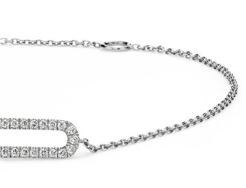 Mini Open Bar Diamond Bracelet 2