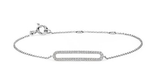 Mini Open Bar Diamond Bracelet